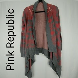 Pink Republic   Open Front Sweater Cardigan